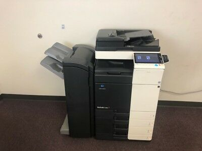 Konica Minolta Bizhub C368 Color Copier Machine Network Printer Scanner Finisher