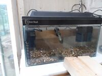"""clearseal 18"""" x 10"""" x 10"""" 30L tank + extras"""