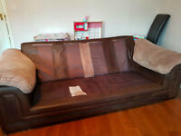 X3 seater sofa and chair