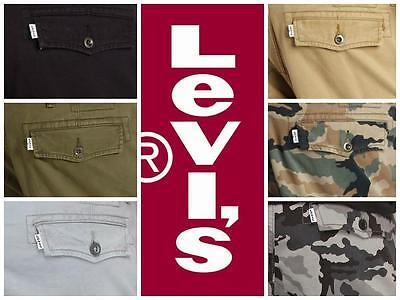 New Levis Mens Relaxed Fit Ace Cargo Pants Many Colors Free Shipping  Nwt