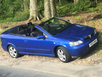 Blue Vauxhall Astra Bartone Convertible 1.6