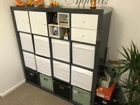 Book Shelf - Ikea High Gloss Grey - 147 x 147 cm