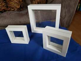 White display frames with pvc windows