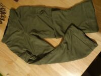 Boys Ben 10 Khaki Green Trousers with pockets - Age 5-7