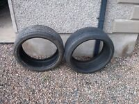 2 PART WORN BRANDED TYRES FOR SALE IN GREAT CONDITION