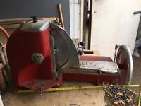 Antique meat slicer