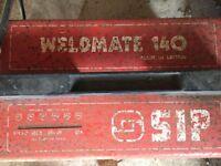 240V - ARC WELDER - WELDMATE 140-STEEL BENCH-MASKS-GLOVES-HAMMER-HEAVY DUTY VICE