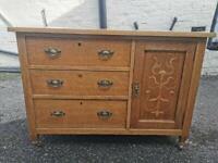 Beautiful Antique Solid Oak Sideboard