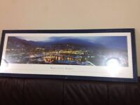 Wall canvas glass framed in very good condition