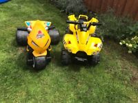 Sold pending collection 2x electric ride on toys