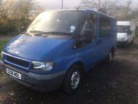 2006 06 FORD TRANSIT 2.0 TDI T260 6 SEAT CREW VAN TOURNEO? FULL MOT WINDOW VAN 2 KEYS PX SWAPS