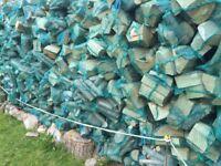 Seasoned Logs for sale KENT 1 ton builder sacks , 30kg large green nets