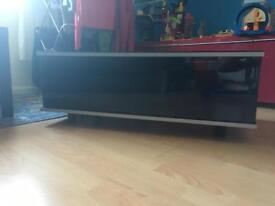 Black glass tv unit & coffee table