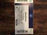 2 Paloma Faith Tickets - seated - 14th March 2018