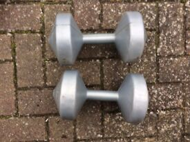 4.5KG silver dumbbell weights