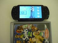 SONY PSP 1000 HANDHELD CONSOLE BLACK