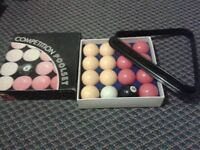 8 ball competition pool set in box with rack