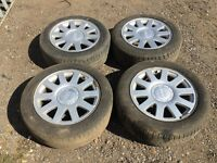 """For sale - Audi A4 / A6 16"""" alloy wheels - good tyres"""