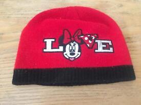 Children's Minnie Mouse winter hat