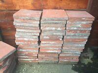 Original red quarry tiles