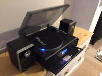 Neostar Vinyl to CD USB Black Turntable Sound System