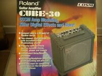 Roland Guitar Amplifier CUBE-30 COSM Amp Modelling and digital effects