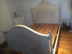 Lovely Double / Queen Bed Vintage Wood
