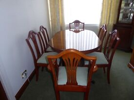 New Yew dining table , sideboard, corner unit