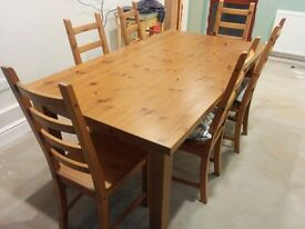 Dining table and six chairs!