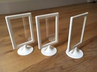 25 x Ikea double sided photo frames in cream