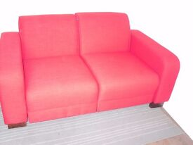 Red 2-seater modular sofa retro style ex-display
