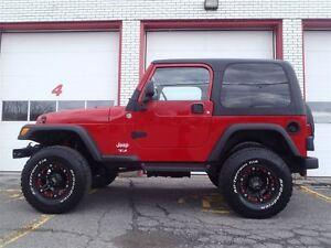 2006 Jeep TJ Lift Kit, 33' tires, 2 tops, full garantie!!