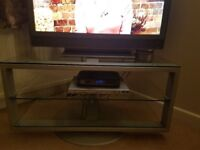 Glass Corner Swivel TV Stand