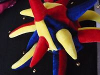Jester Hat with Bells - New with Tags - Adult Size - Fancy Dress / Mardi Gras / Carnival