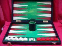 Boxed Backgammon Set.