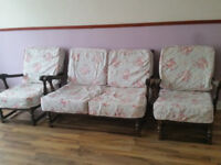 Ercol Old Colonial Sofa & 2 Arm Chairs from smoke free, pet free home