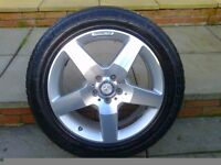 ALLOYS X 4 OF 19 INCH GENUINE MERCEDES ML4X4 AMG DIAMOND CUT IN EXCELLENT CONDITION WITH GOOD TYRES