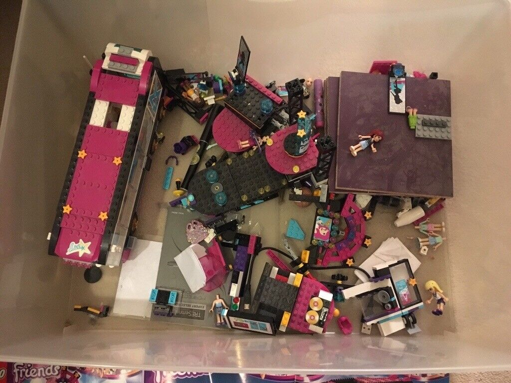 Lego Popstar Bus And Stage Set! With Instructions!