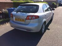 Chevrolet lacetti 1.6 with almost a full years mot, Low millage for age