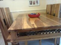 For sale, beautiful dining table & 5 chairs. Indian wood, excellent condition.