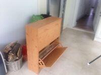 Oak Shoe Cabinet As New