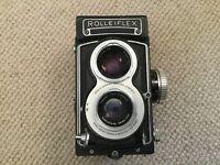 R A R E vintage Rolleiflex T WHITEFACE camera