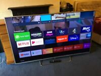 SONY 65 INCH SMART LED INTERNET TV WITH FREEVIEW HD.