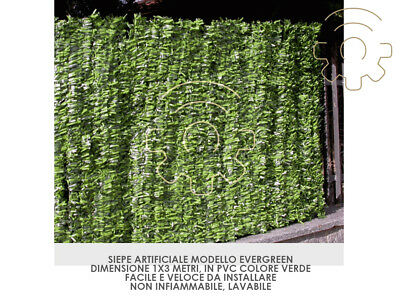 Artificial Hedge Evergreen Leaf Long Synthetic 1 x 3 MT Arella Artificial