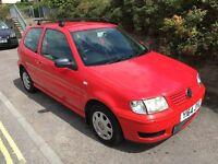 VW POLO, 3 door, 2001, MOT until DEC