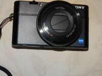 Sony RX100 Mk1 advanced boxd large sensor compact camera, mint, 1.8 Zeiss zoom lens, 20.2 MP, extras