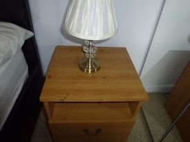 Pair of crystal & brass effect Table lamps