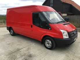 Ford transit lwb semi high 125 ps 2013 no vat on van