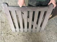 2x solid wooden gates with fittings