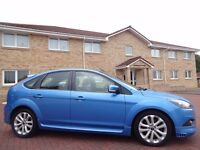 12 MONTH WARRANTY! (59) FORD FOCUS Zetec S TDCi 5dr- BLUE- S BODYSTYLING- Low Mileage- FSH- Top Spec